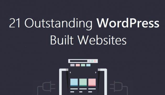 21 Outstanding WordPress Built Website