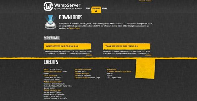 wamp server installation on wamp