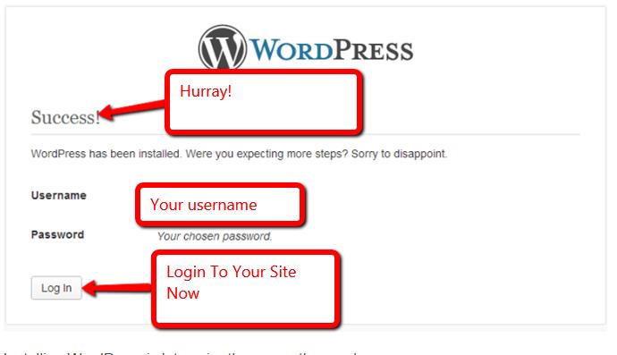 wordpress wamp server install