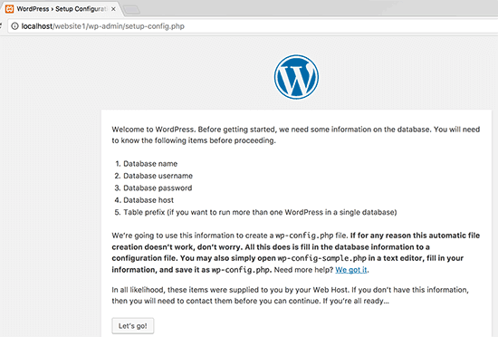 wordpress on xampp server