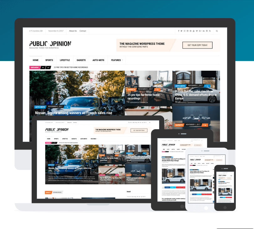 public opinion- how to create a news website in WordPress
