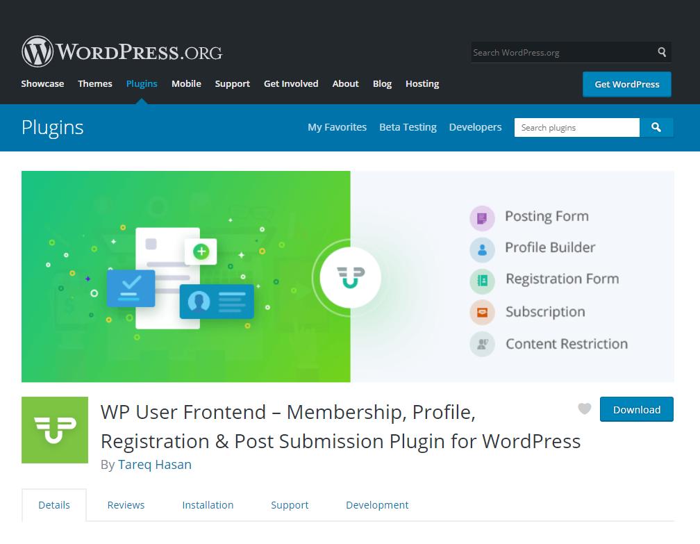 WPUF- guest blogging using WordPress