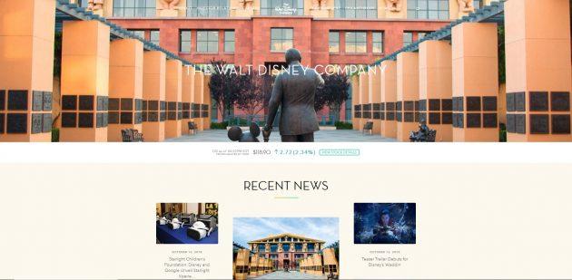 Walt Disney- Big Brands That Use WordPress 2018