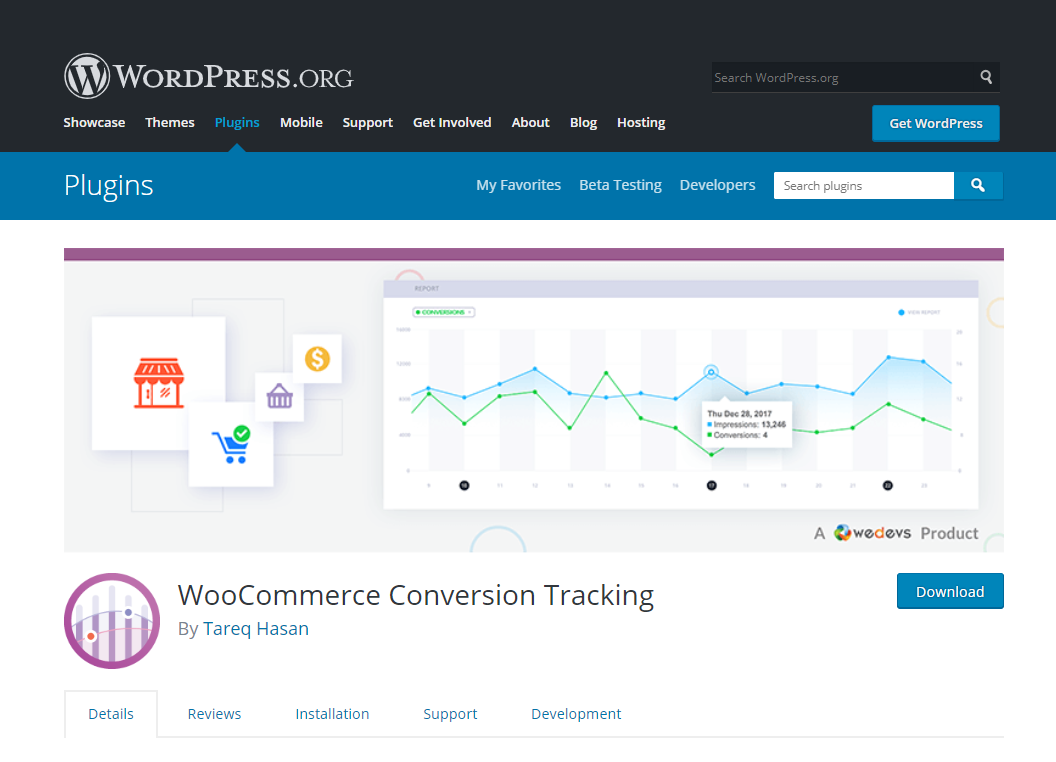 woocommerce conversion tracking- create e-commerce website using WordPress