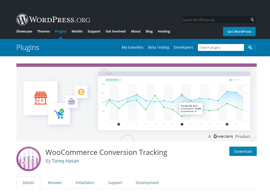 woocommerce conversion tracking- create e-commerce website using WordPress