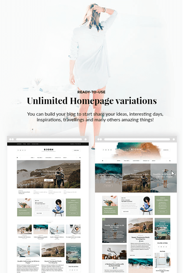 WordPress theme bjorn