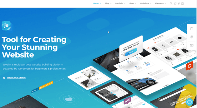 WordPress theme jevelin