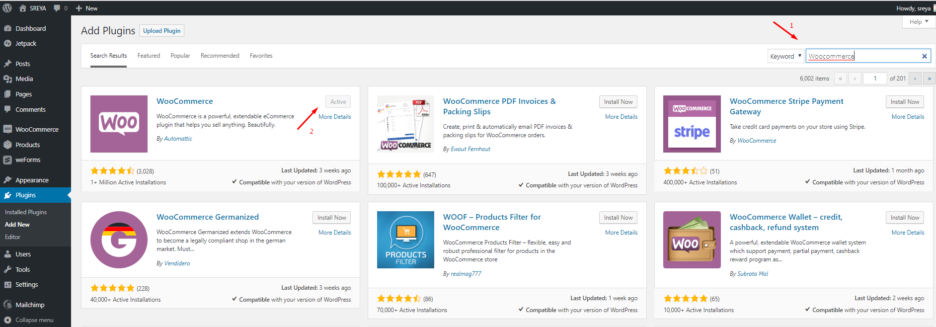 Add Woocommerce- create e-commerce website using WordPress