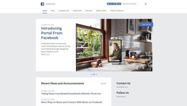 facebook news room- Big Brands That Use WordPress 2018