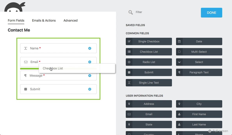 Ninja Forms - Best Contact Form Plugins WordPress