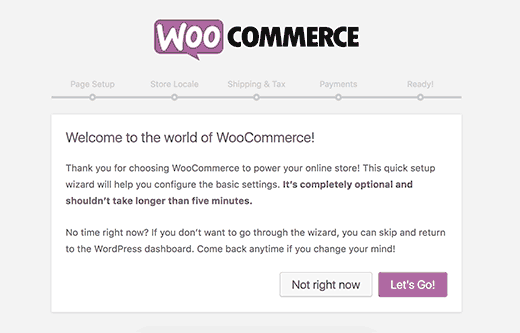 woosetup 1- create e-commerce website using WordPress