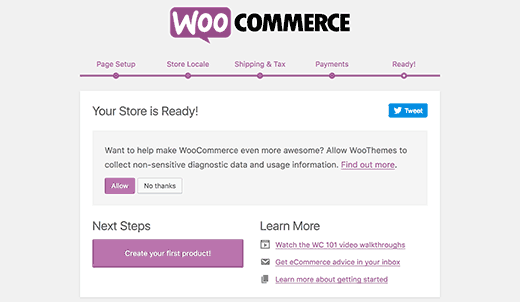 setup finish- create e-commerce website using WordPress
