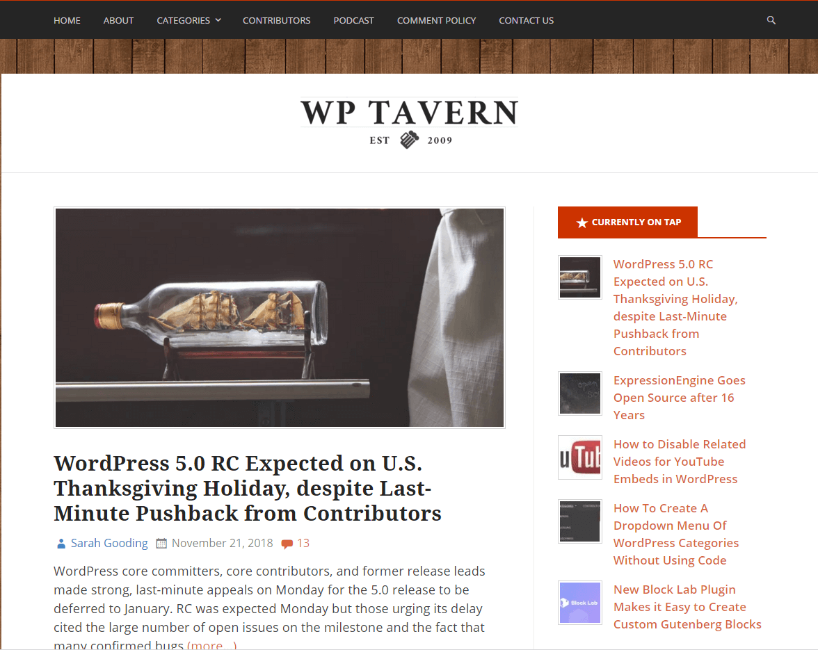 wp tavern- best WordPressblogs