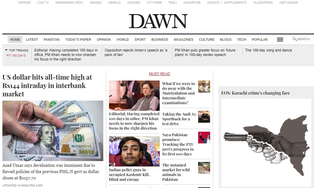 Dawn- how to create a news website in wordpress.