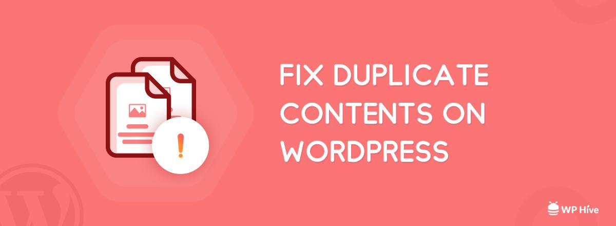 Fix Duplicate Content Issue