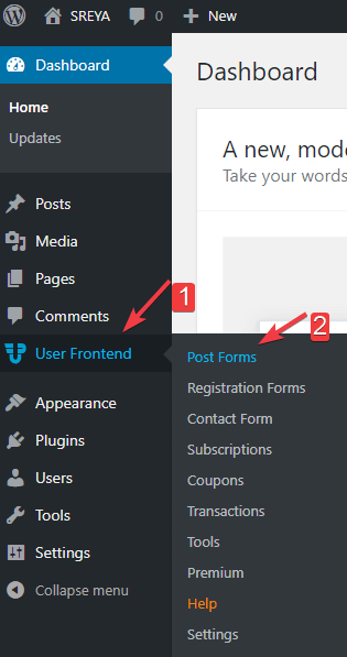 Post form- allow users to submit posts