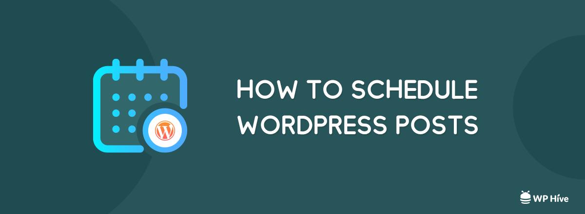 Schedule WordPress Posts