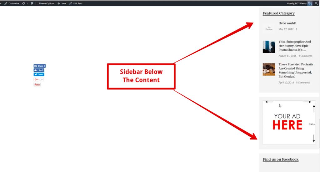 Sidebar Below Content Error