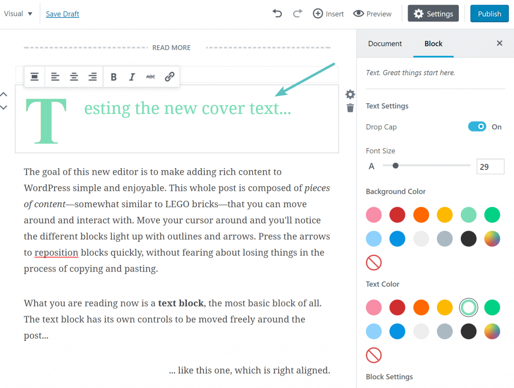 gutenberg-cover-text WordPress 5.0 Review