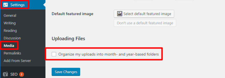 Organize my uploads into month- and year-based folders