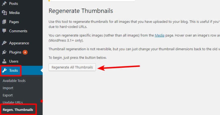 Regenerate WordPress Thumbnails To Fix Distorted Images