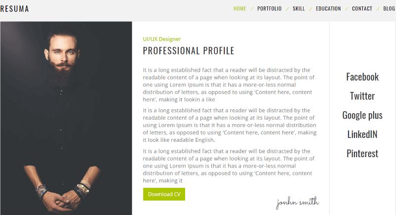 9+ Best WordPress Resume (CV) Themes for Landing Your Dream Job 3