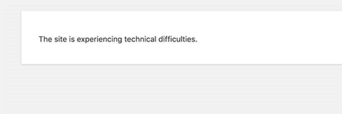 Fatal Error WordPress 5.2