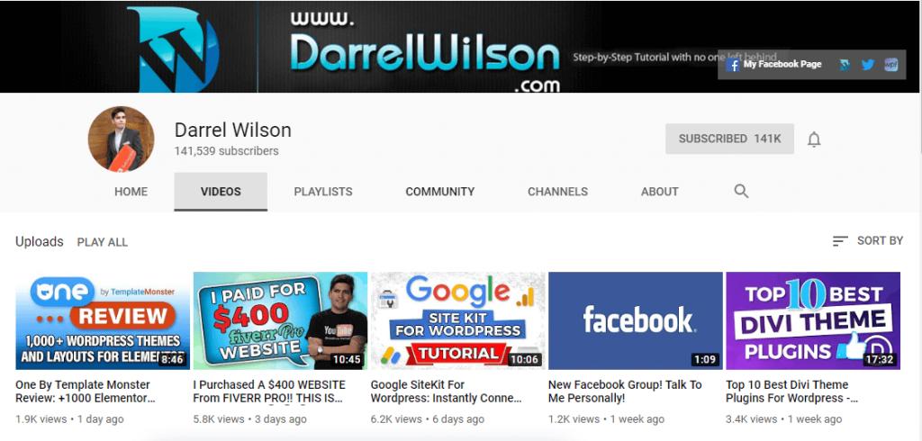 Darrel Wilson YouTube Channel