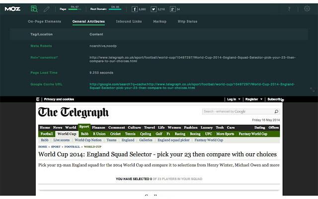 MozBar WordPress SEO Tools