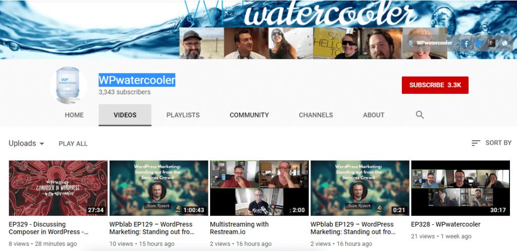 WPwatercooler YouTube Channel