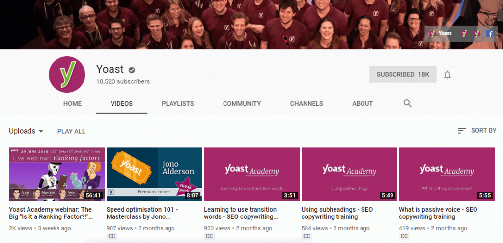 Yoast YouTube Channel
