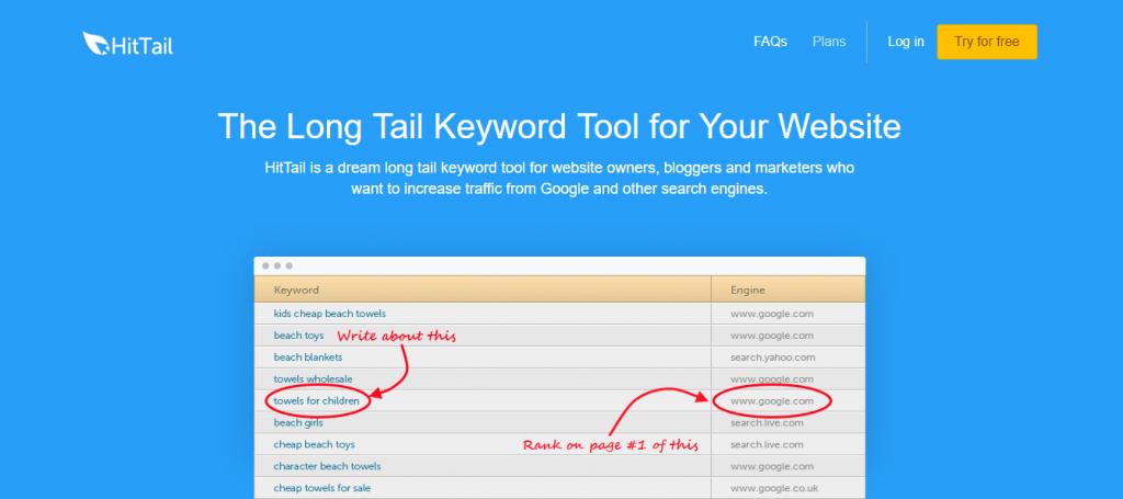 HitTail Long-tail Keyword Tool