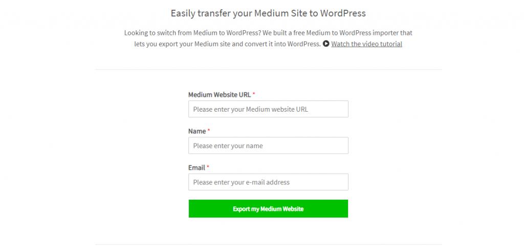 Medium to WordPress Importer Tool