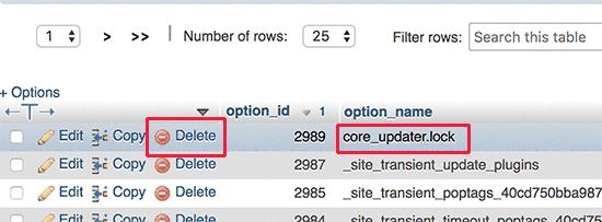 Core Updater Delete