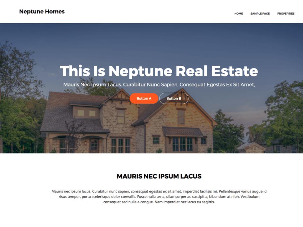 Neptune Real Estate Theme