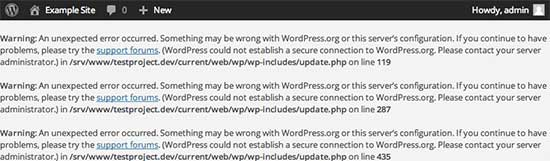 Secure Connection Error