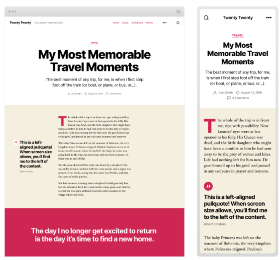 WordPress 5.3 Introduces Twenty Twenty Theme with Improved Typography 7
