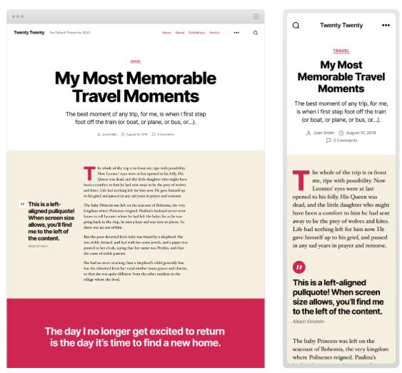 WordPress 5.3 Introduces Twenty Twenty Theme with Improved Typography 7