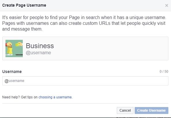 Create Business Username