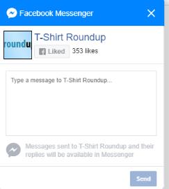 Facebook Messenger Chat Button