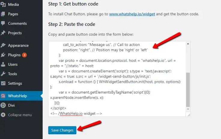 Paste Button Code