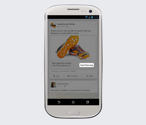 Facebook Messenger Send Message Ad