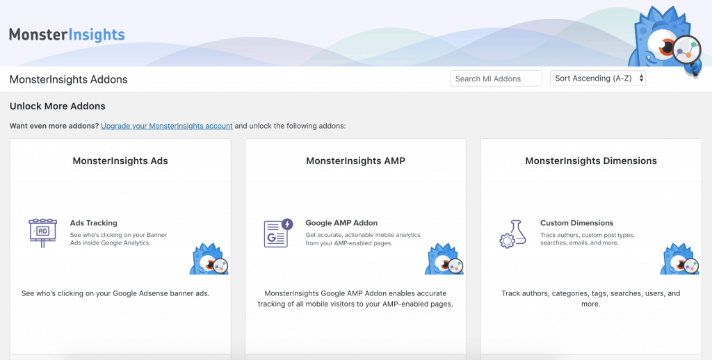 MonsterInsights Pro Features