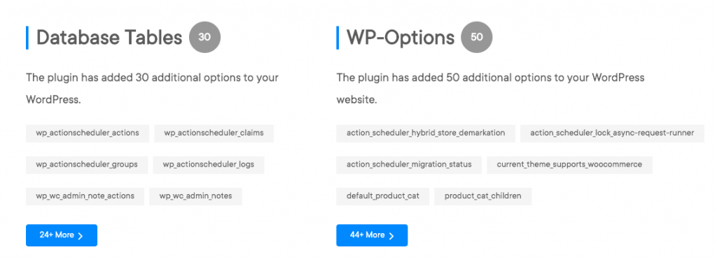 Database Table and Options in wphive- new wordpress repository