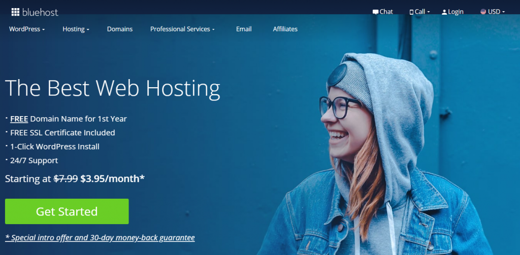 Bluehost-best WordPress hosting providers