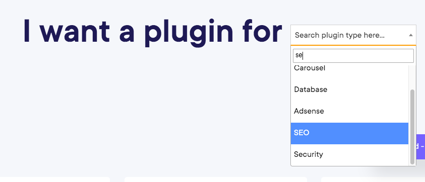 searching plugins in wphive- a new wordpress repository