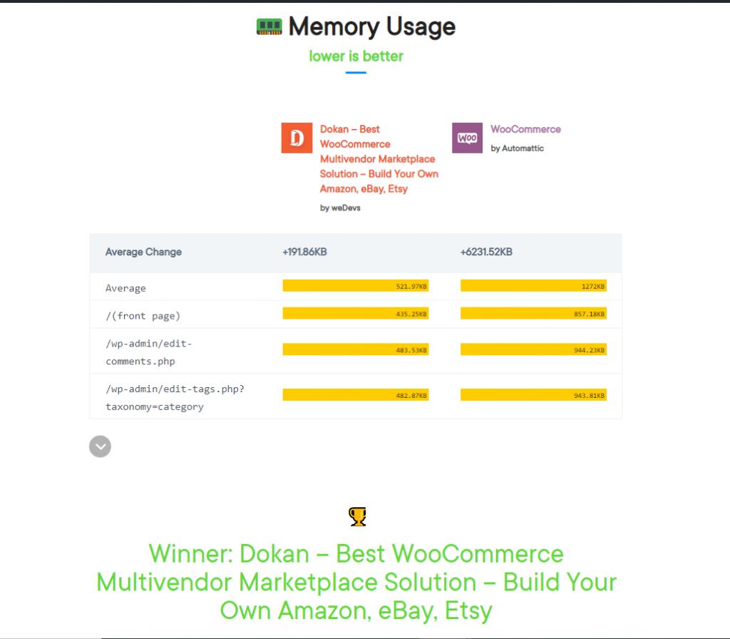 memory usage