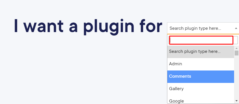 Search the best plugin by category