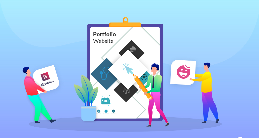 Create portfolio website for making money online from home
