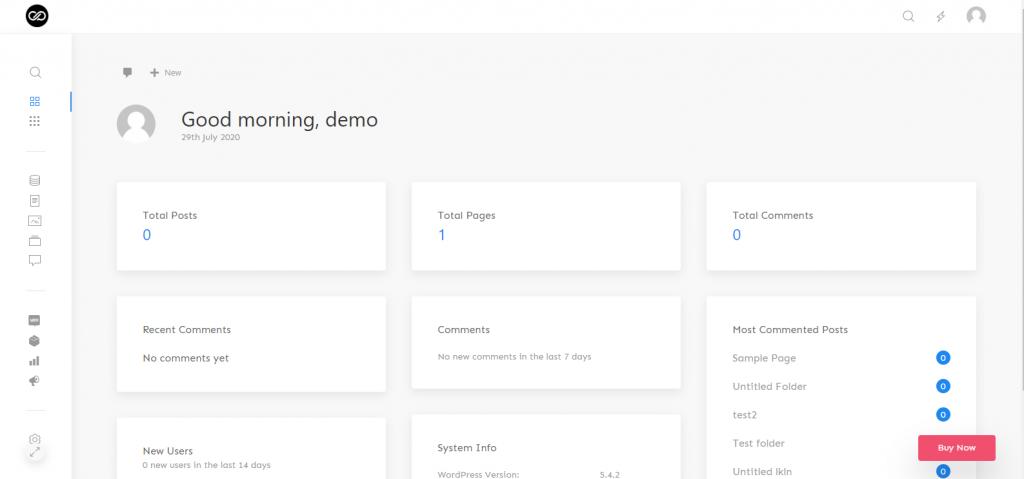Admin theme demo